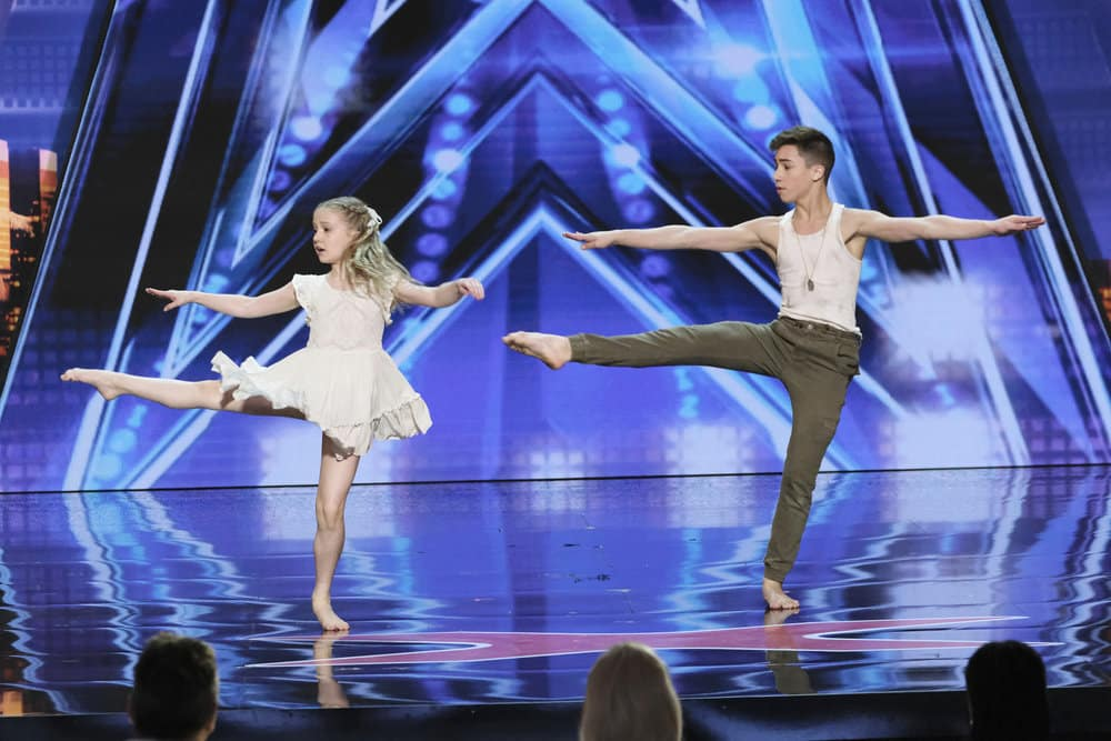 """AMERICA'S GOT TALENT -- """"Auditions 5"""" Episode 1405 -- Pictured: Izzy and Easton -- (Photo by: Trae Patton/NBC)"""