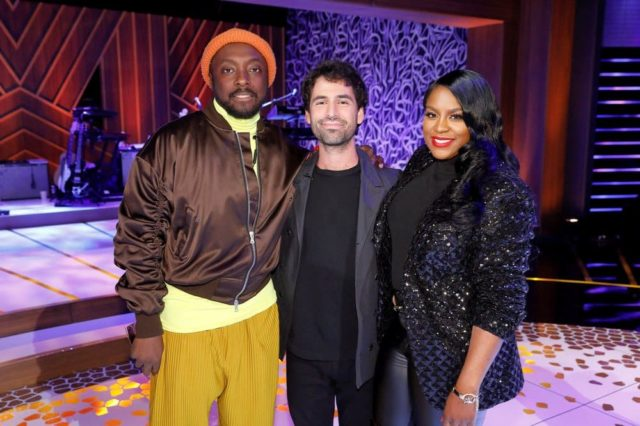 SONGLAND -- ?will.i.am? Episode 102 -- Pictured: (l-r) will.i.am, Adam Friedman, Ester Dean -- (Photo by: Trae Patton/NBC)