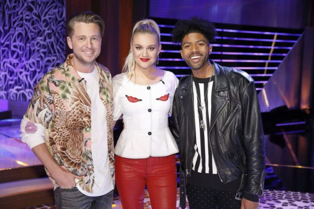 "SONGLAND -- ""Kelsea Bellerini"" Episode 103 -- Pictured: (l-r) Ryan Tedder, Kelsea Ballerini, Darius Coleman -- (Photo by: Trae Patton/NBC)"