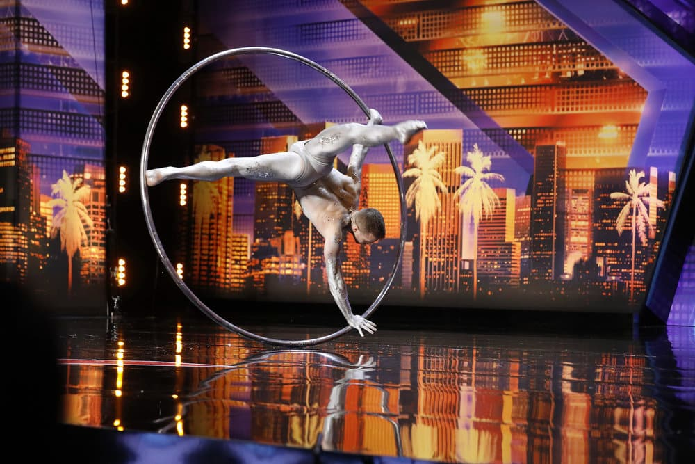 """AMERICA'S GOT TALENT -- """"Auditions 6"""" Episode 1407 -- Pictured: Matthew Richardson -- (Photo by: Trae Patton/NBC)"""