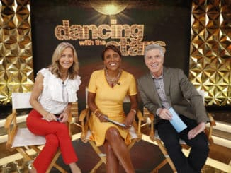"GOOD MORNING AMERICA - 8/21/19 The 2019 cast of ÒDancing with the StarsÓ is revealed LIVE on ÒGood Morning AmericaÓ Wednesday, August 21, 2019 on ABC. The new season of ""Dancing with the Stars,"" premieres Monday, September 16, 2019 at 8PM ET/PT on ABC. GMA19 (Walt Disney Television/Lou Rocco) LARA SPENCER, ROBIN ROBERTS, TOM BERGERON"