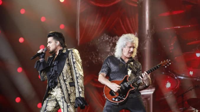 GLOBAL CITIZEN -- Global Citizen Festival in Central Park in New York City on Saturday, September 28, 2019 -- Pictured: (l-r) Adam Lambert, performs with Queen -- (Photo by: Heidi Gutman/MSNBC)