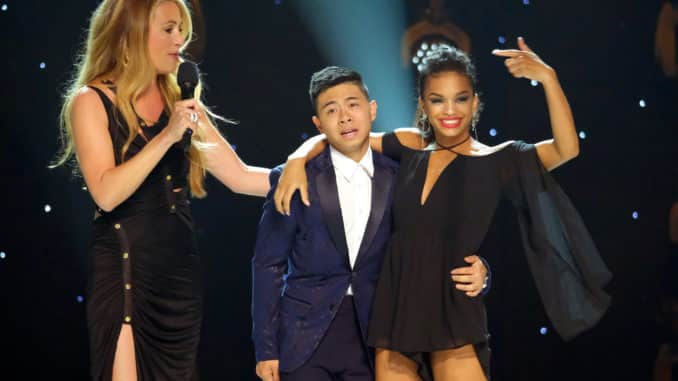 SO YOU THINK YOU CAN DANCE: FINALE: Host Cat Deeley (L) announces America's favorite dancer Bailey Munoz (C) and runner-up Mariah Russell (R) on the Season Finale of SO YOU THINK YOU CAN DANCE airing live, Monday, Sept. 16 (8:00-10:00 PM ET/PT) on FOX. ©2019 Fox Media LLC. Cr: Adam Rose