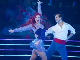 "DANCING WITH THE STARS - ""Disney Night"" - There will be Disney magic in the ballroom as nine celebrity and pro-dancer couples compete on the fifth week of the 2019 season of ""Dancing with the Stars,"" live, MONDAY, OCT. 14 (8:00-10:00 p.m. EDT), on ABC. (ABC/Eric McCandless) LAUREN ALAINA, GLEB SAVCHENKO"