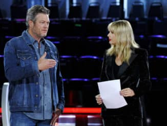 "THE VOICE -- ""Knockout Reality"" Episode 1712 -- Pictured: (l-r) Blake Shelton, Taylor Swift -- (Photo by: Trae Patton/NBC)"