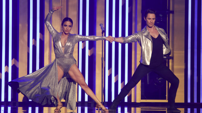 """DANCING WITH THE STARS - """"Dance-Off Week"""" - Seven celebrity and pro-dancer couples return to the ballroom to compete on the eighth week of the 2019 season of """"Dancing with the Stars,"""" live, MONDAY, NOV. 4 (8:00-10:00 p.m. EST), on ABC. (ABC/Kelsey McNeal) ALLY BROOKE, SASHA FARBER"""