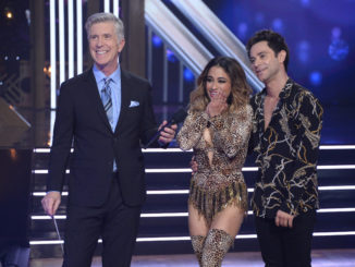 "DANCING WITH THE STARS - ""Boy Band & Girl Group Night"" - Six celebrity and pro-dancer couples return to the ballroom to compete on the ninth week of the 2019 season of ""Dancing with the Stars,"" live, MONDAY, NOV. 11 (8:00-10:00 p.m. EST), on ABC. (ABC/Eric McCandless) TOM BERGERON, ALLY BROOKE, SASHA FARBER"