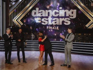 "DANCING WITH THE STARS - ""Finale"" - It all comes down to this as four celebrity and pro-dancer couples return to the ballroom to compete and win the Mirrorball trophy on the 11th and final week of the 2019 season of ""Dancing with the Stars,"" live, MONDAY, NOV. 25 (8:00-10:00 p.m. EST), on ABC. (ABC/Kelsey McNeal) TOM BERGERON, LIONEL RICHIE, LAYLA, SHAWN, LOGAN"