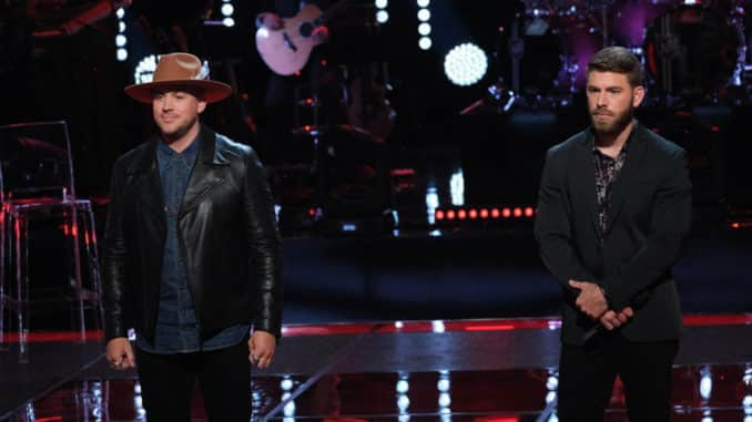 THE VOICE -- ?Knockout Rounds? Episode 1714 -- Pictured: (l-r) Ricky Braddy, Zach Bridges -- (Photo by: Justin Lubin/NBC)