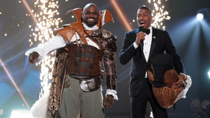 """THE MASKED SINGER: L-R: Wayne Brady and host Nick Cannon in the """"Road to the Finals / Season Finale: And The Winner Takes It All and Takes It Off"""" two-hour season finale episode of THE MASKED SINGER airing Wednesday, Dec. 18 (8:00-10:00 PM ET/PT) on FOX. CR: Lisa Rose / FOX ©2020 FOX MEDIA LLC."""