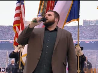 Jake Hoot Sings National Anthem Winter Classic 2020 on NBC.