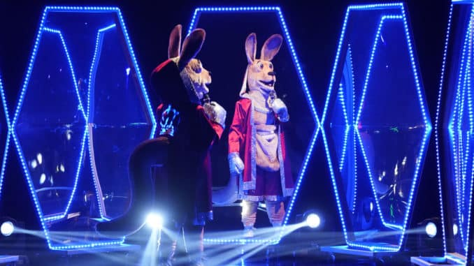 MASKED SINGER: The Kangaroo in the Season Three premiere of THE MASKED SINGER airing Sunday, Feb. 2 (10:30-11:40 PM ET/7:30-8:40 PM PT live to all time zones) on FOX, following SUPER BOWL LIV. THE MASKED SINGER will then make its time period premiere on Wednesday, Feb. 5 (8:00-9:00 PM ET/PT). © 2019 FOX MEDIA LLC. CR: Greg Gayne/FOX.