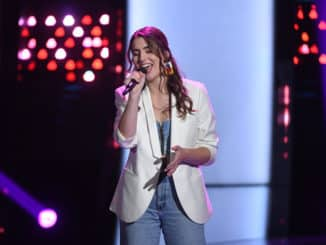 "THE VOICE -- ""Blind Auditions"" Episode 1801 -- Pictured: Joanna Serenko -- (Photo by: Mitchell Haddad/NBC)"