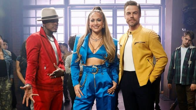 "WORLD OF DANCE -- ""Promo"" -- Pictured: (l-r) Ne-Yo, Jennifer Lopez, Derek Hough -- (Photo by: Trae Patton/NBC)"