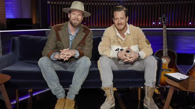 "SONGLAND -- ""Florida Georgia Line"" Episode 206 -- Pictured: (l-r) Brian Kelley, Tyler Hubbard -- (Photo by: Trae Patton/NBC)"