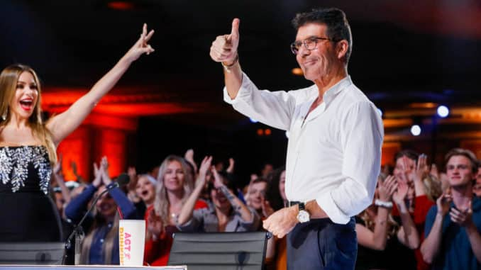 "AMERICA'S GOT TALENT -- ""Auditions"" -- Pictured: (l-r) Sofia Vergara, Simon Cowell -- (Photo by: Trae Patton/NBC)"