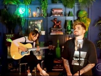 Adam Lambert On The Moon Late Late Show with James Corden