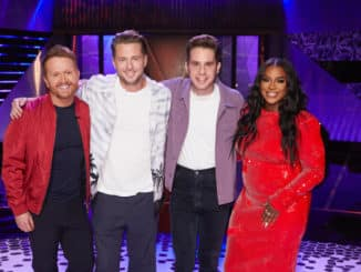 "SONGLAND -- ""Ben Platt"" Episode 209 -- Pictured: (l-r) Shane McAnally, Ryan Tedder, Ben Platt, Ester Dean -- (Photo by: Trae Patton/NBC)"