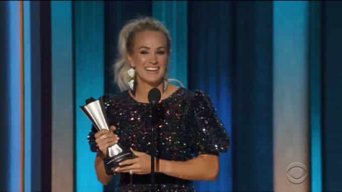 Carrie Underwood wins Entertainer of the Year 2020 ACM