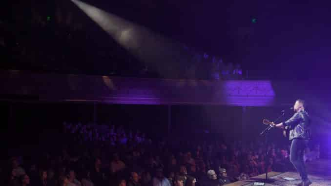 Scotty McCreery performs for sold-out Ryman on March 11, two days before the venue paused all shows with a live audience. | Photo Credit: John Shearer
