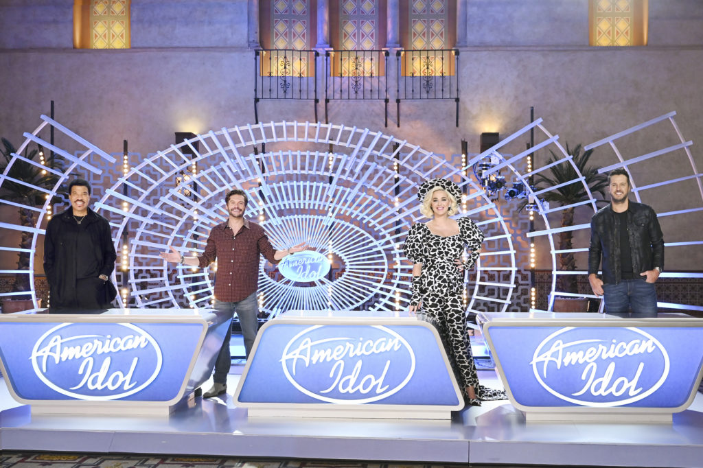 "AMERICAN IDOL - The iconic star-maker competition series ""American Idol"" welcomes back music industry legends, judges Luke Bryan, Katy Perry and Lionel Richie, and veteran host Ryan Seacrest to help find AmericaÕs next singing sensation for a fourth season on ABC. (ABC/John Fleenor) LIONEL RICHIE, RYAN SEACREST, KATY PERRY, LUKE BRYAN"