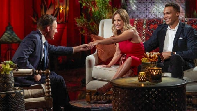 The Bachelorette - (ABC/Craig Sjodin) CHRIS HARRISON, CLARE CRAWLEY, DALE