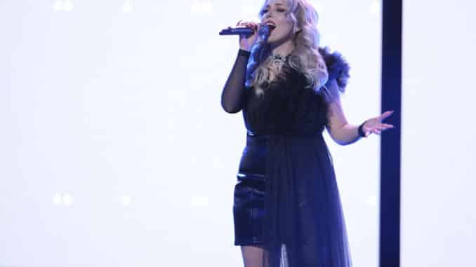 """THE VOICE -- """"Live Top 17 Performances"""" Episode 1912A -- Pictured: Cami Clune -- (Photo by: Trae Patton/NBC)"""