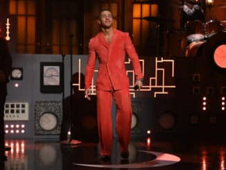 """SATURDAY NIGHT LIVE -- """"Nick Jonas"""" Episode 1799 -- Pictured: Musical guest Nick Jonas performs on Saturday, February 27, 2021 -- (Photo by: Will Heath/NBC)"""