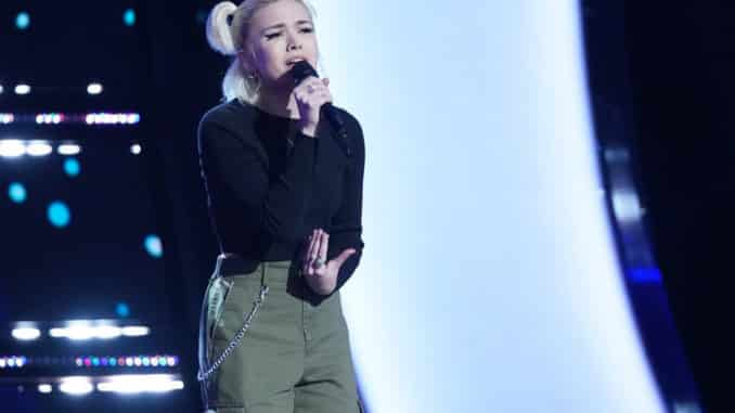 """THE VOICE -- """"Blind Auditions"""" Episode 2003 -- Pictured: Ryleigh Modig -- (Photo by: Tyler Golden/NBC)"""