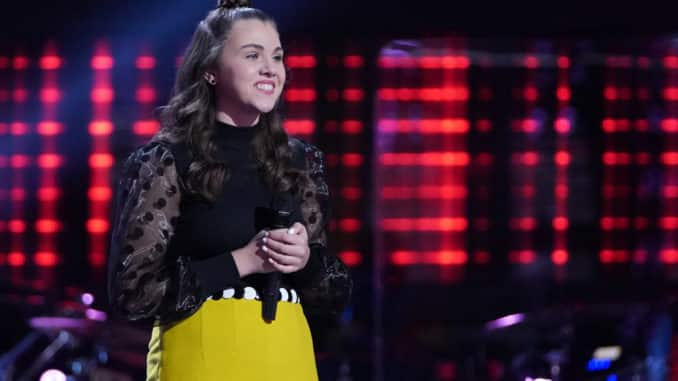 """THE VOICE -- """"Blind Auditions"""" Episode 2005 -- Pictured: Anna Grace -- (Photo by: Tyler Golden/NBC)"""