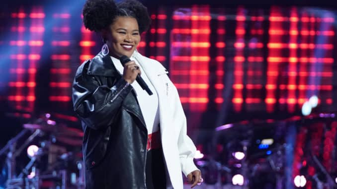 "THE VOICE -- ""Blind Auditions"" Episode 2006 -- Pictured: Denisha Dalton -- (Photo by: Tyler Golden/NBC)"