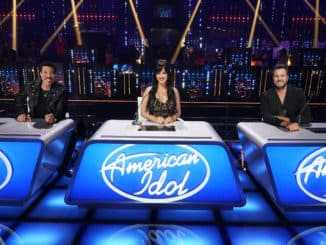 """AMERICAN IDOL - """"412 (Top 16)"""" - """"American Idol"""" continues its search for the next superstar with an all-new episode as the Top 16 are revealed and perform in hopes of securing America's vote to the next round on SUNDAY, APRIL 11 (8:00-10:00 p.m. EDT), on ABC. (ABC/Eric McCandless) LIONEL RICHIE, KATY PERRY, LUKE BRYAN"""