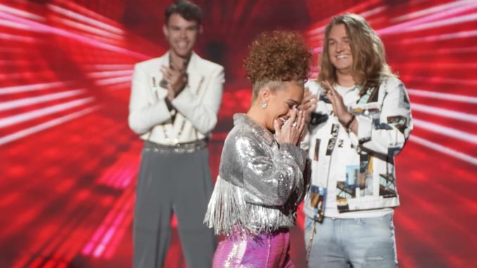"""AMERICAN IDOL - """"413 (Top 12 Live Reveal)"""" Ð """"American Idol"""" gets closer to crowning a winner as it continues on MONDAY, APRIL 12 (8:00-10:00 p.m. EDT), on ABC. Following AmericaÕs overnight vote, 10 contestants will be revealed from the Top 16, leaving six contestants to perform for a chance at one of two spots picked by the judges, rounding out the Top 12. (ABC/Eric McCandless) MADISON WATKINS"""