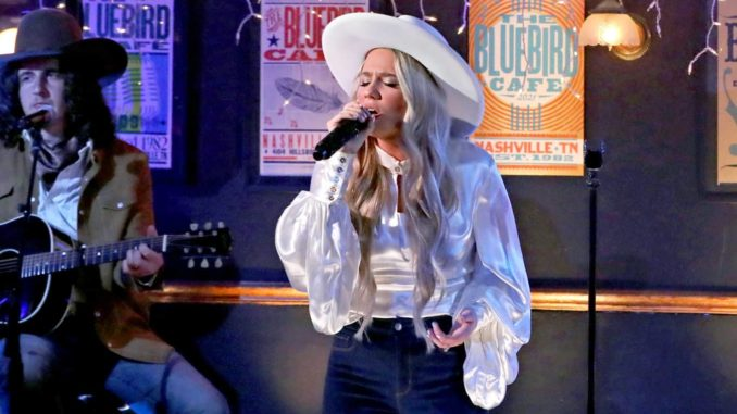 NASHVILLE, TENNESSEE - APRIL 18: In this image released on April 18, Gabby Barrett performs onstage at the 56th Academy of Country Music Awards at the Bluebird Cafe on April 18, 2021 in Nashville, Tennessee. (Photo by Terry Wyatt/ACMA2021/Getty Images for ACM)