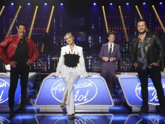 """AMERICAN IDOL - """"417 (Coldplay Songbook & MotherÕs Day Dedication)"""" Ð """"American Idol"""" is back with a live coast-to-coast episode as the top seven contestants perform two songs each on SUNDAY, MAY 9 (8:00-10:00 p.m. EDT), on ABC. (ABC/Eric McCandless) LIONEL RICHIE, KATY PERRY, RYAN SEACREST, LUKE BRYAN"""