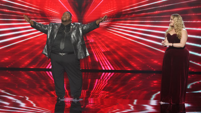 """AMERICAN IDOL - """"418 (My Personal Idol/Artist Singles)"""" - """"American Idol"""" gets closer to crowning its winner as the top four become the top three who will head to the finale on a live coast-to-coast episode airing SUNDAY, MAY 16 (8:00-10:00 p.m. EDT), on ABC. (ABC/Eric McCandless) WILLIE SPENCE, GRACE KINSTLER"""