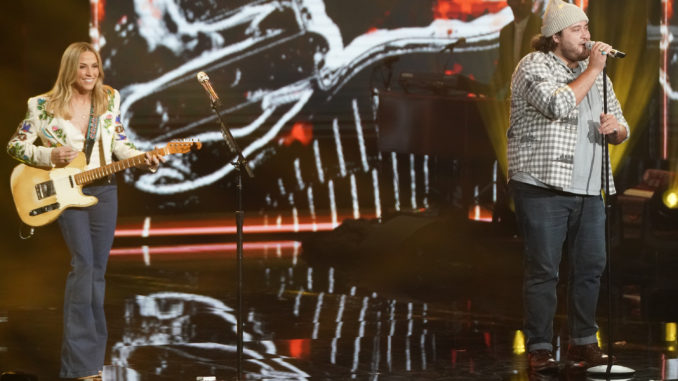 """AMERICAN IDOL - """"419 (Grand Finale)"""" - """"American Idol"""" is ready to crown its winner on a special three-hour live coast-to-coast season finale event airing SUNDAY, MAY 23 (8:00-11:00 p.m. EDT), on ABC. (ABC/Eric McCandless) SHERYL CROW, GRAHAM DEFRANCO"""