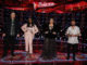 """THE VOICE -- """"Live Top 17 Results"""" Episode 2012B -- Pictured: (l-r) Kenzie Wheeler, Gihanna Zoe, Kelly Clarkson, Corey Ward -- (Photo by: Trae Patton/NBC)"""