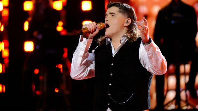 """THE VOICE -- """"Live Top 9 Performances"""" Episode 2013A -- Pictured: Kenzie Wheeler -- (Photo by: Trae Patton/NBC)"""