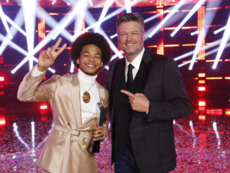 """THE VOICE -- """"Live Finale"""" Episode 2014B -- Pictured: (l-r) Cam Anthony, Blake Shelton -- (Photo by: Trae Patton/NBC)"""