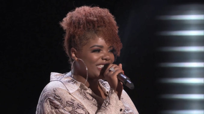 Gymani The Voice Blind Audition