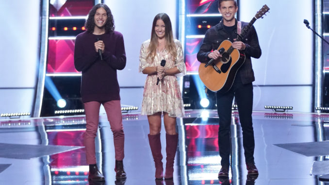 """THE VOICE -- """"Blind Auditions"""" Episode 2101 -- Pictured: Girl Named Tom -- (Photo by: Tyler Golden/NBC)"""