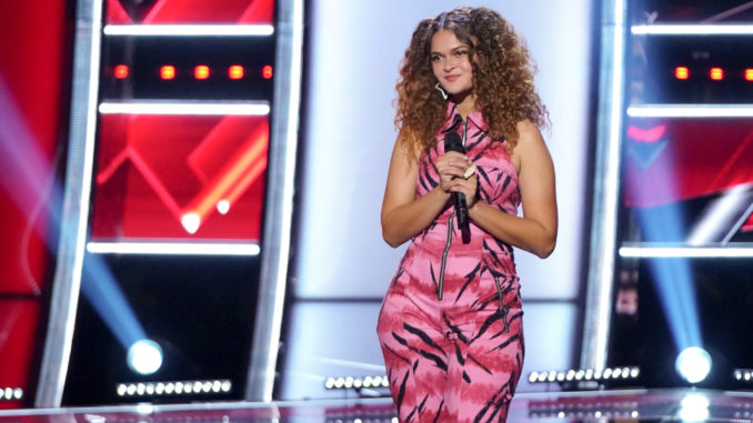 """THE VOICE -- """"Blind Auditions"""" -- Pictured: Raquel Trinidad -- (Photo by: Tyler Golden/NBC)"""