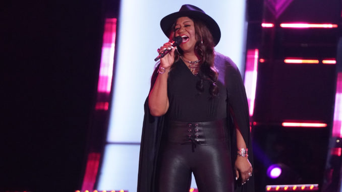 """THE VOICE -- """"Blind Auditions"""" Episode 2101 -- Pictured: Wendy Moten -- (Photo by: Tyler Golden/NBC)"""