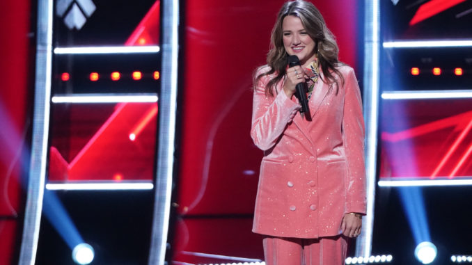 """THE VOICE -- """"Blind Auditions"""" Episode 2106 -- Pictured: Parker McKay -- (Photo by: Tyler Golden/NBC)"""