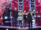 """THE VOICE -- """"Blind Auditions"""" Episode 2106 -- Pictured: (l-r) Blake Shelton, Kelly Clarkson, Ariana Grande, John Legend -- (Photo by: Tyler Golden/NBC)"""