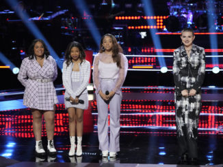 """THE VOICE -- """"Battle Rounds"""" Episode 2110 -- Pictured: (l-r) KCK3, Ryleigh Plank -- (Photo by: Greg Gayne/NBC)"""