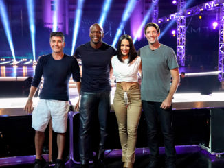 """AMERICA'S GOT TALENT: EXTREME -- """"First Look"""" -- Pictured: (l-r) Simon Cowell, Terry Crews, Nikki Bella, Travis Pastrana -- (Photo by: Eliza Morris/NBC)"""
