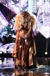 """THE MASKED SINGER: Lion in the all-new """"Five Masks No More"""" episode of THE MASKED SINGER airing Wednesday, Jan. 16 (9:00-10:00 PM ET/PT) on FOX. © 2019 FOX Broadcasting. CR: Michael Becker / FOX."""