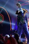 """THE MASKED SINGER: Peacock in the """"All Together Now"""" episode of THE MASKED SINGER airing Wednesday, Feb. 13 (9:00-10:00 PM ET/PT) on FOX. Cr: Michael Becker / FOX."""